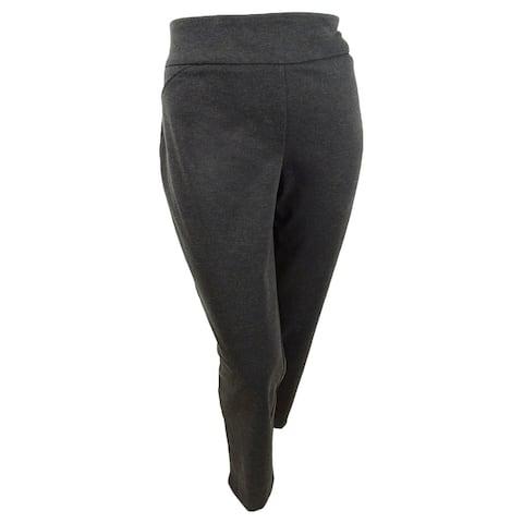 Charter Club Women's Plus Size Ponte-Knit Pants (22W, Heather Onyx) - 22W