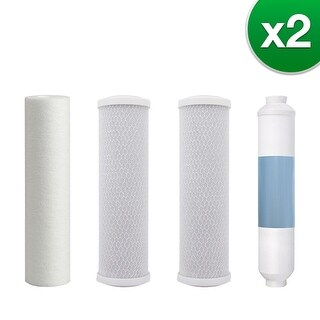 Watts Premier 5 Stage RO (Reverse Osmosis) Replacement Water Filter Kit for WP-5 Without RO Membrane (2 Pack)