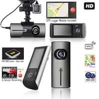"Indigi XR300 2.7"" TFT Dash Cam DVR + Dual Wide Angle Lens Security Record + Motion Sensor + GPS Module"