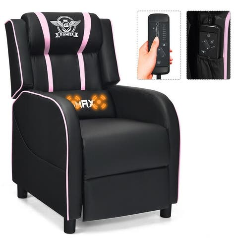 Massage Gaming Recliner Chair Racing Style Single Lounge Sofa