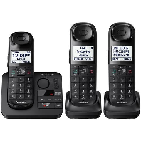 Panasonic KX-TGL433B Cordless Phone with Answering Machine - 3 Handsets (Refurbished)