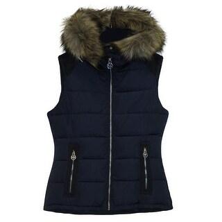Michael MIchael Kors Black Down Packable Puffer Coat with Hood, Black