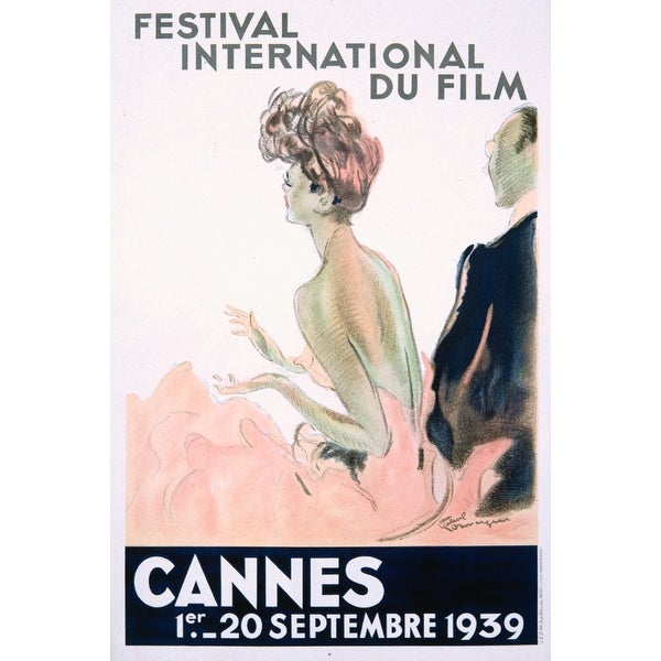 Cannes Festival International Film Domergue 1939 (Acrylic Wall Clock)