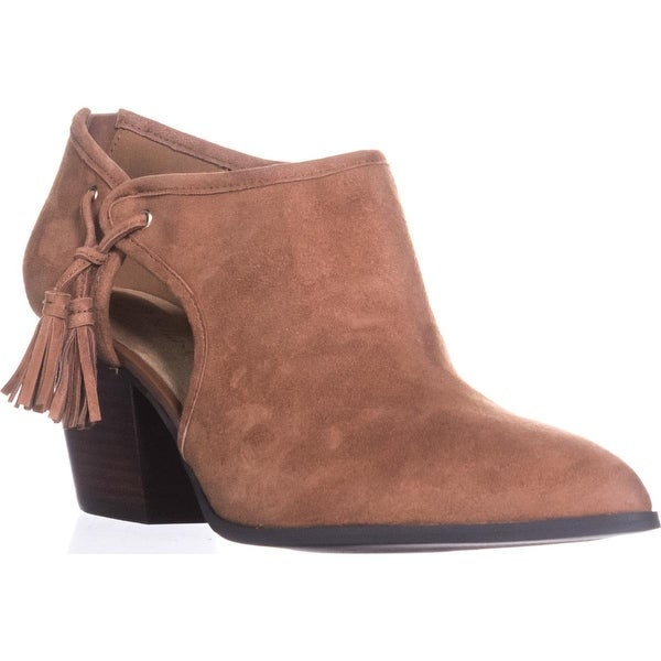 Bella Vita Eli Pointed Toe Ankle Booties, Dark Tan