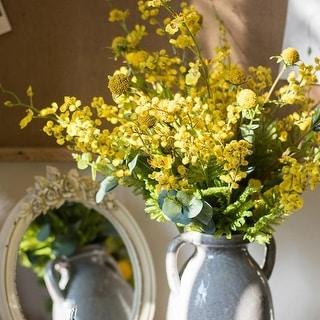 """RusticReach Artificial Flower Bouquet Yellow Flower Garden 21"""" Tall"""