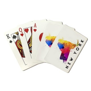 New York - State Abstract Watercolor - LP Artwork (Poker Playing Cards Deck)