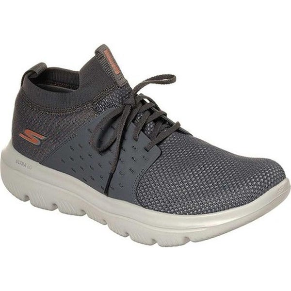 9ab1984ab Skechers Men's GOwalk Evolution Turbo Walking Shoe Charcoal/Orange
