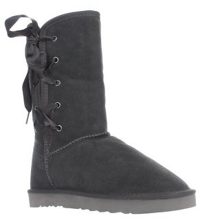 SC35 Aliciah Lace Up Snow Boots, Grey
