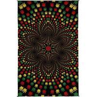 Handmade 100% Cotton 3D Weed Vortex Rasta Tapestry Tablecloth Beach Sheet 60x90