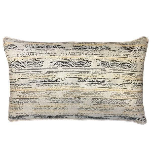 Shop Rodeo Home Selena Multicolor Linen Jaquard Rectangular Lumbar Pillow Overstock 31772718