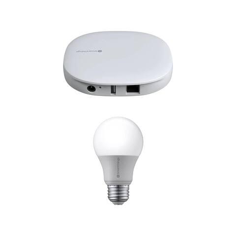 Samsung Smart Things Hub with Smart Light Bulb