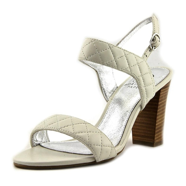 Adrianna Papell Astor Women Open Toe Leather Ivory Sandals