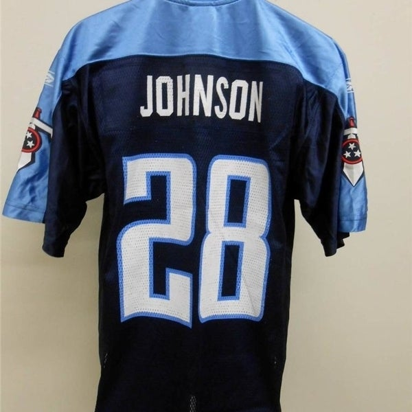 With Flaw  28 Chris Johnson Tennessee Titans MENS S Small Reebok Jersey e17f1a08d