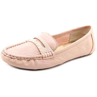 Isaac Mizrahi Reba Women Moc Toe Leather Loafer