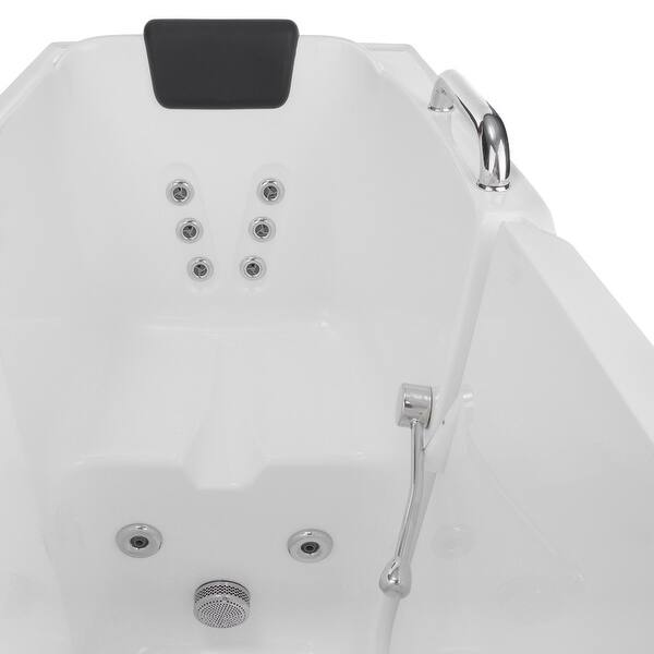 53 X 27 Walk In Whirlpool Bathtub With Faucet And Integrated Seat Overstock 31571234