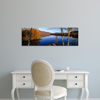 Easy Art Prints Panoramic Images's 'Lake Scene Sweden' Premium Canvas Art