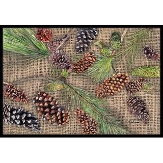 Carolines Treasures 8735JMAT Pine Cones Indoor Or Outdoor Doormat, 24 x 36 in.