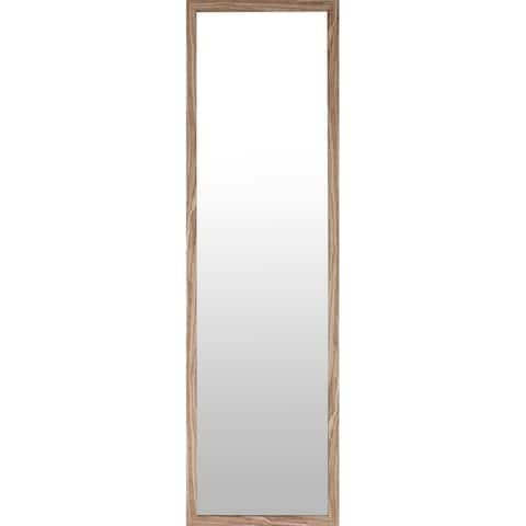 """Mirrorize.ca 49.5x13.5"""" Oak Finish Framed Door and Wall Mirror Full Length Hanging Mirrors Rectangle Large Long Entryway Bedroom"""