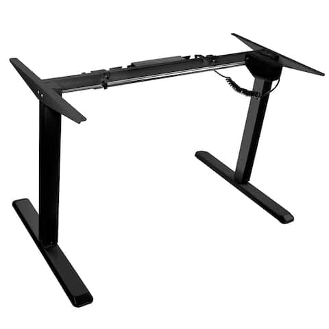 Mount-It! Electric Standing Desk Frame (Frame ONLY), Height Adjustable Motorized Sit Stand Desk Base w/Controller (Single Motor)