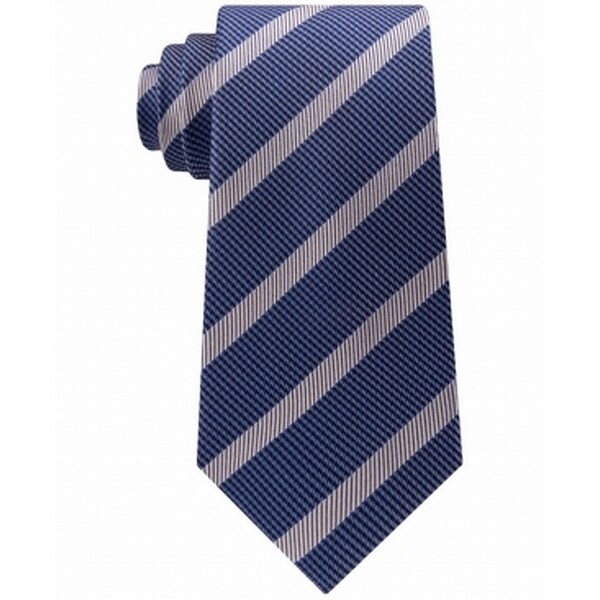 d82f1957b7b5d Shop Sean John Sapphire Gray Micro Houndstooth Stripe Neck Tie Silk - Free  Shipping On Orders Over  45 - Overstock - 27000146