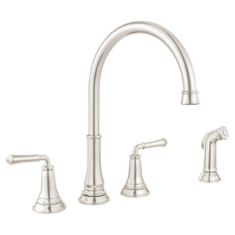 American Standard 4279.701 Delancey Double Handle Widespread Kitchen Faucet - Includes Side Spray