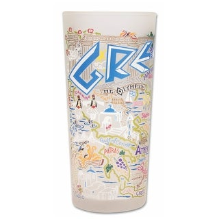 Heritage Glass Tumbler 15 Ounce Cup - Greece