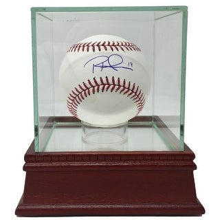 Rhys Hoskins Signed Phillies Official MLB Baseball JSA w/ Glass Display Case
