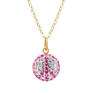 Crystaluxe Peace Pendant with Swarovski Crystals in 14K Gold-Plated Sterling Silver - Rose