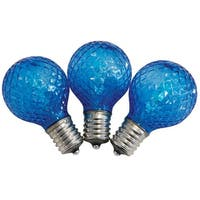 Celebrations UURT4411 LED G40 LED Replacement Bulbs, Blue