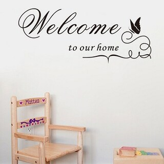 Family Removable DIY Art Vinyl Quote Wall Stickers - Welcome to our home