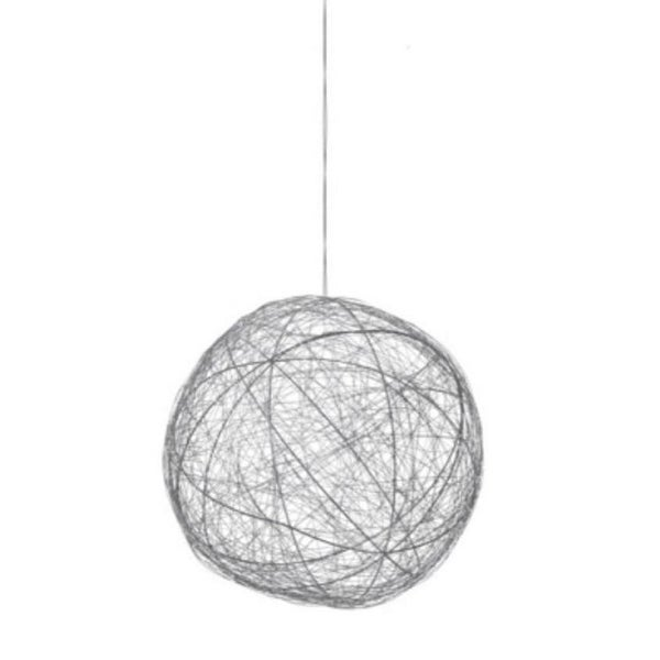 "10"" Tell A Story Contemporary Silver Woven Metal Wire Christmas Ball Ornament"