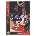Tracy Murray Portland Trailblazers 1994 Upper Deck Autographed Card This item comes with a certificate of authenticit