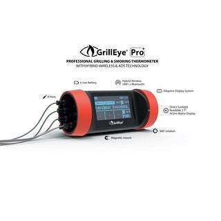 GrillEye® Pro Plus Hybrid Wi-Fi & Bluetooth Grilling and Smoking Thermometer