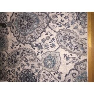 Safavieh Madison Paisley Boho Glam Cream/ Light Grey Rug - 8' x 10'