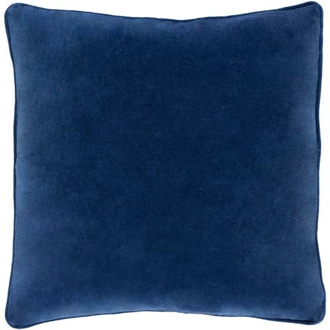 Decorative Vesey Navy 18-inch Throw Pillow Cover