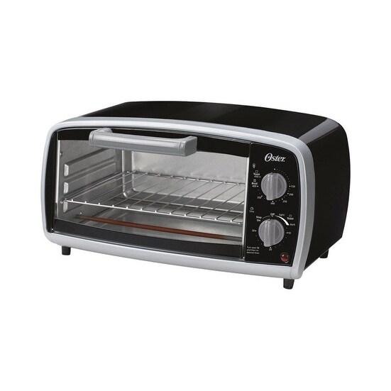Oster TSSTTVVG01 Toaster Oven, 4 Slice, Black/Sliver