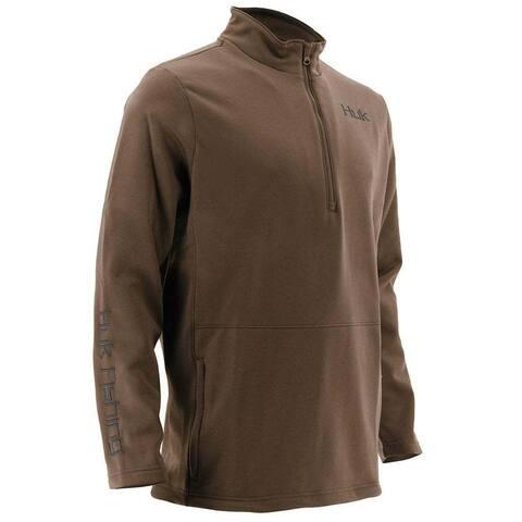 Huk Men's Tidewater Bark Medium 1/4 Zip Sweater