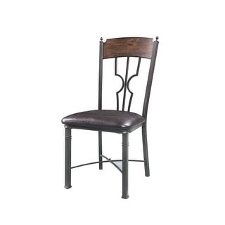 Side Chair - Set Of 2 In Espresso And Dark Bronze
