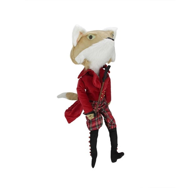 "30"" Plush William the Fox Decorative Christmas Jockey Display Figure"