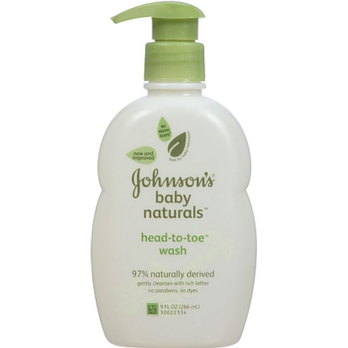JOHNSON'S Natural Head-To-Toe Baby Wash 9 oz (4 options available)