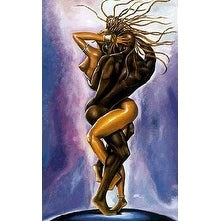 ''Interlock'' by WAK - Kevin A. Williams African American Art Print (29.5 x 18.5 in.)