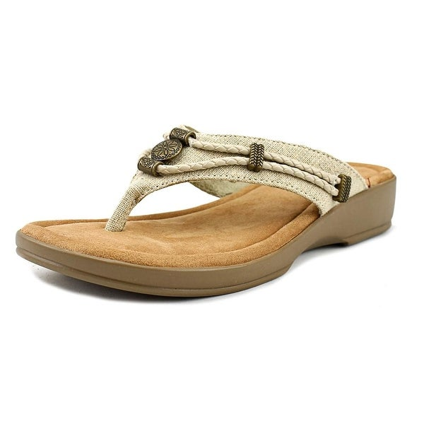 Minnetonka Silverthorne Women Open Toe Leather Nude Thong Sandal