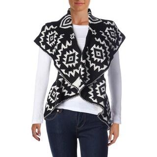 John Paul Richard Womens Reversible Ruffled Sweater Vest