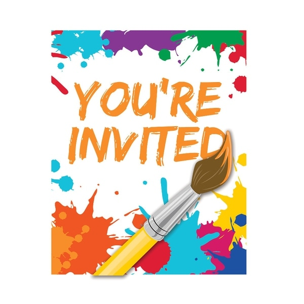 Club Pack Of 48 Art Party Youre Invited Invitations 5