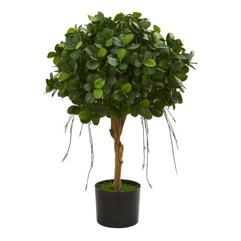Nearly Natural Home Decorative 2.5' Panda Ficus Artificial Faux Tree - Not Available