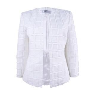 Kasper Women's Textured Open-Front Blazer - Vanilla Ice (2 options available)