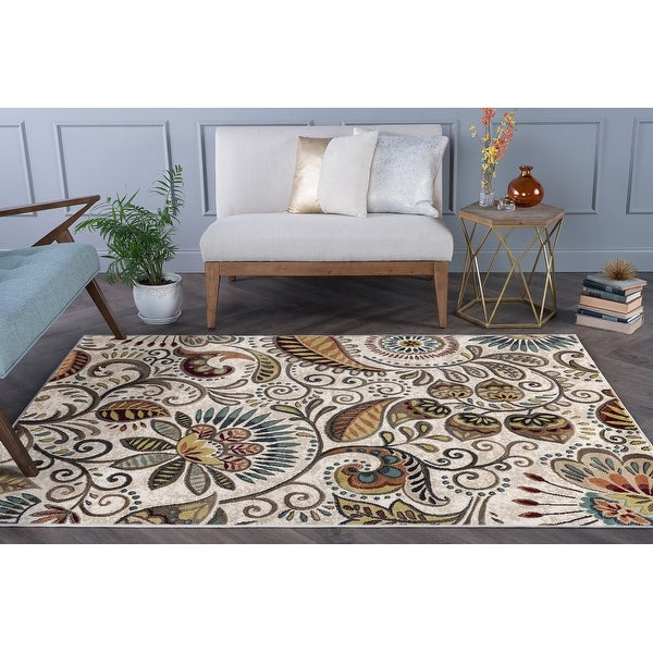 Alise Rugs Caprice Transitional Floral Area Rug. Opens flyout.
