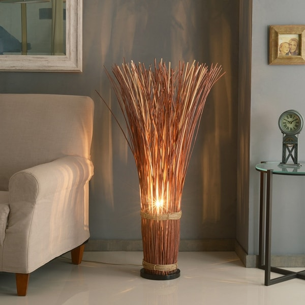 Coastal Reed 46-inch Natural Brown Bohemian Floor Lamp. Opens flyout.