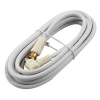 Unique Bargains PAL Male to F Male M/M Converter TV Antenna Coaxial Cable Cord 10Ft White