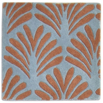 """One of a Kind Hand-Tufted Modern & Contemporary (2'0""""x2'0"""") 2' x 3' Floral & Botanical Wool Rug - 2'0""""x2'0"""""""